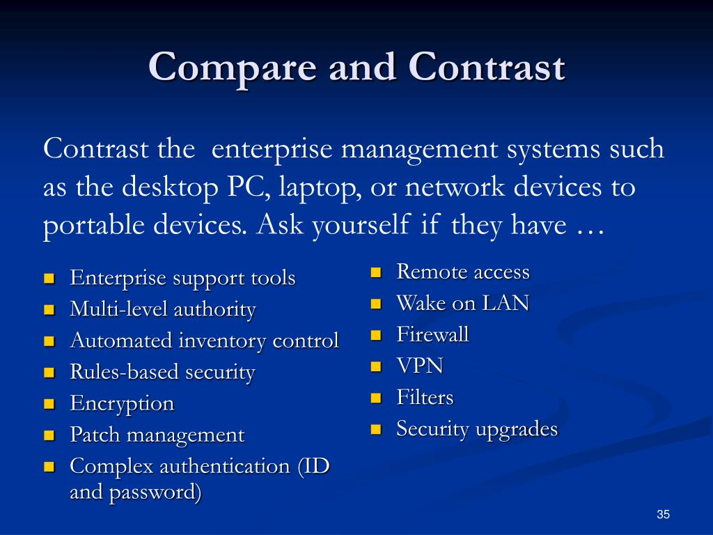 Enterprise support tools