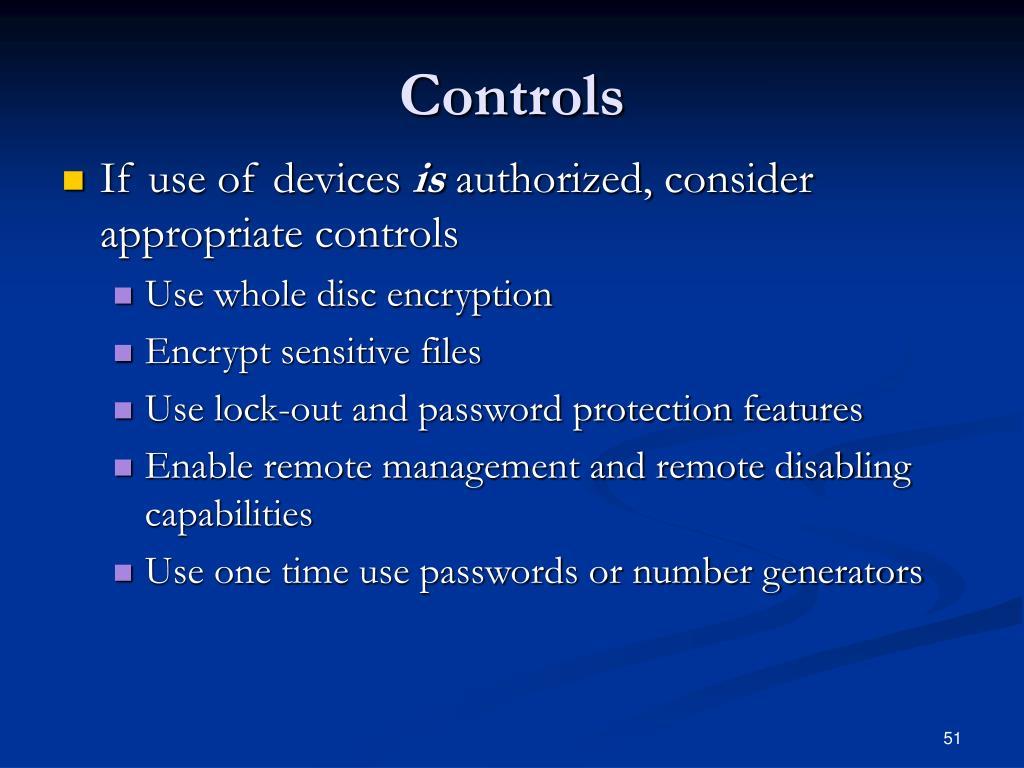 Controls
