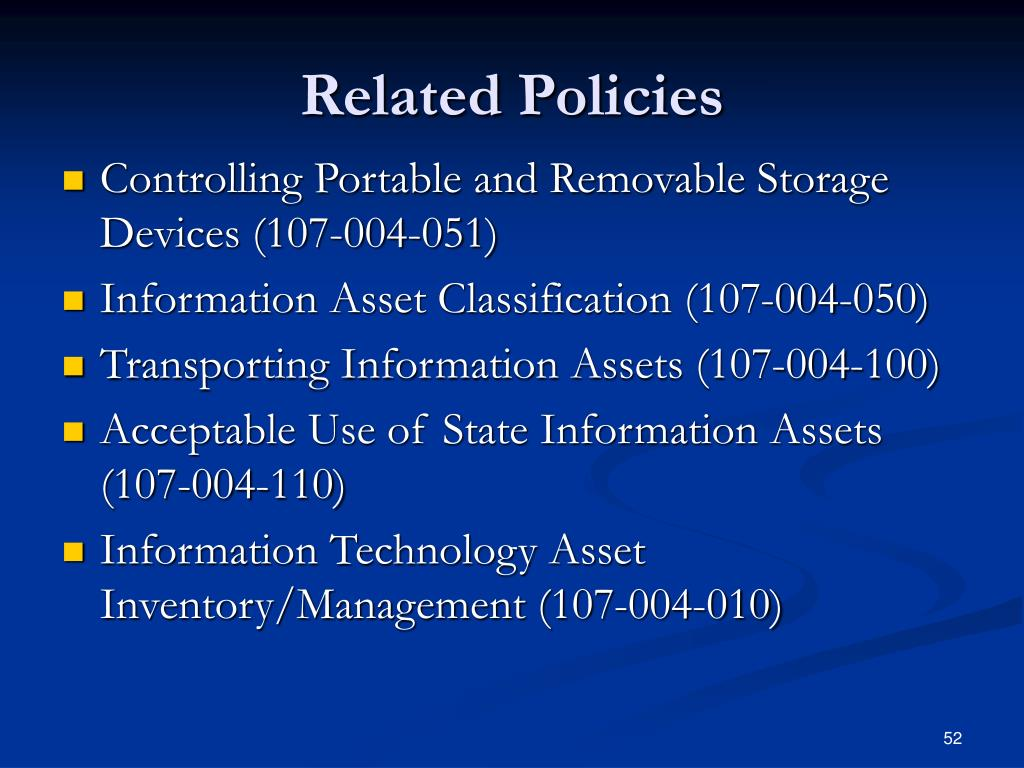 Related Policies