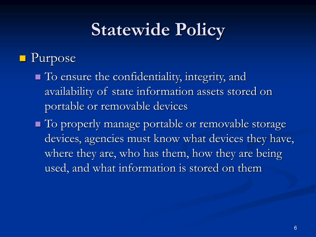 Statewide Policy