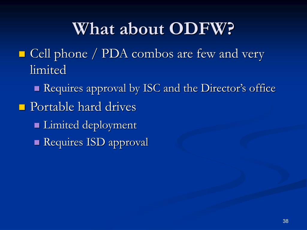 What about ODFW?