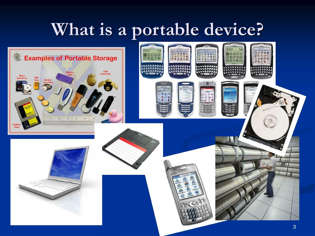 What is a portable device?