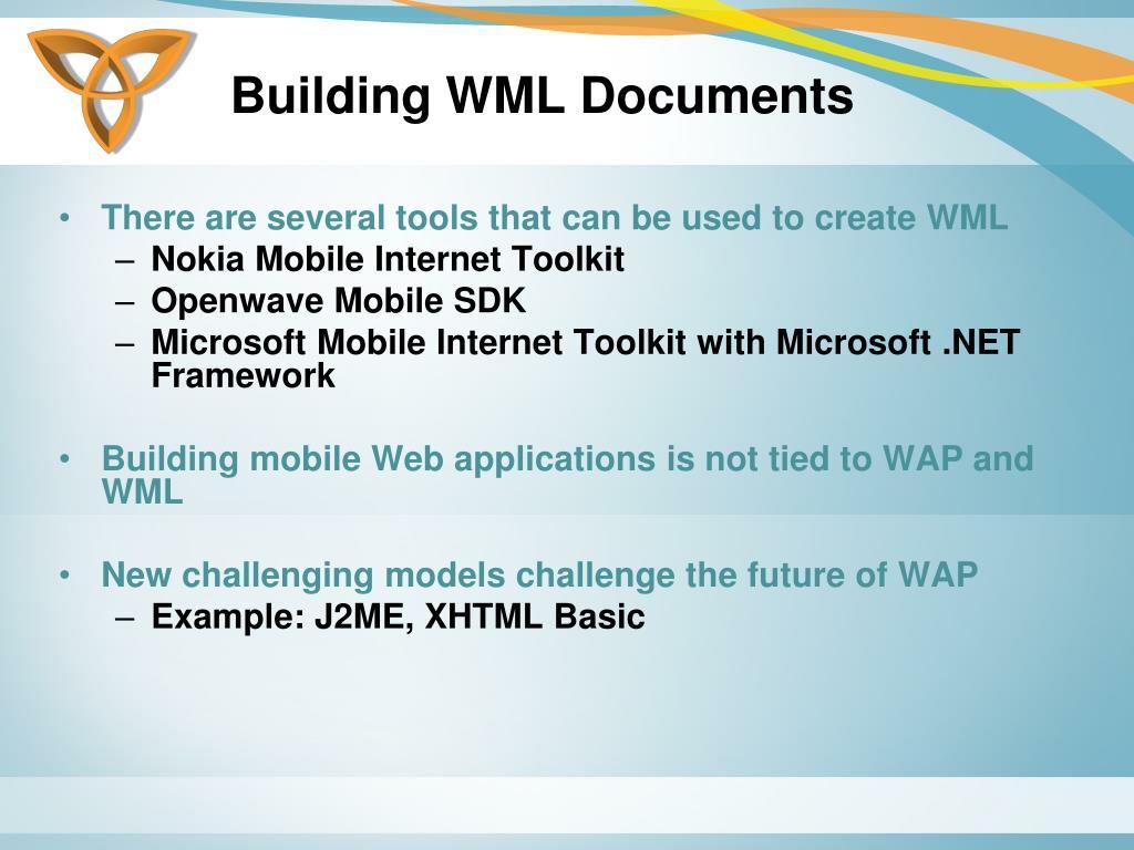 Building WML Documents