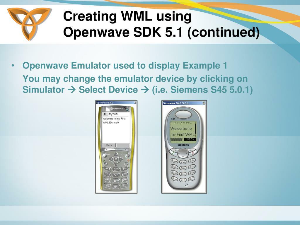 Creating WML using