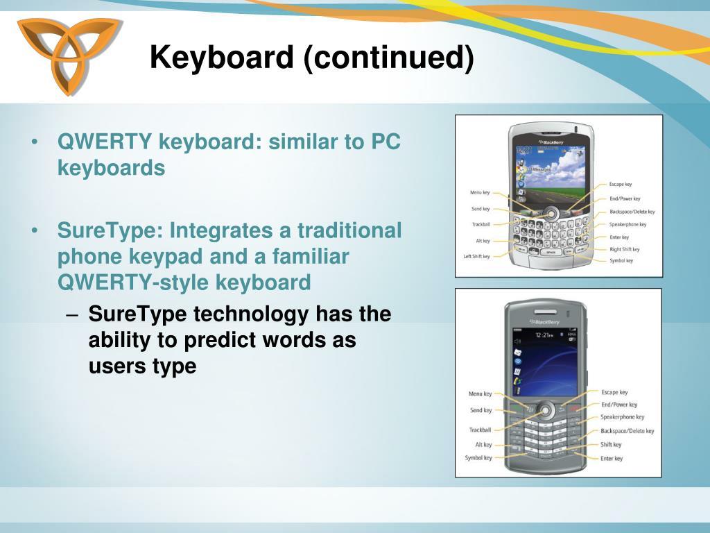 Keyboard (continued)