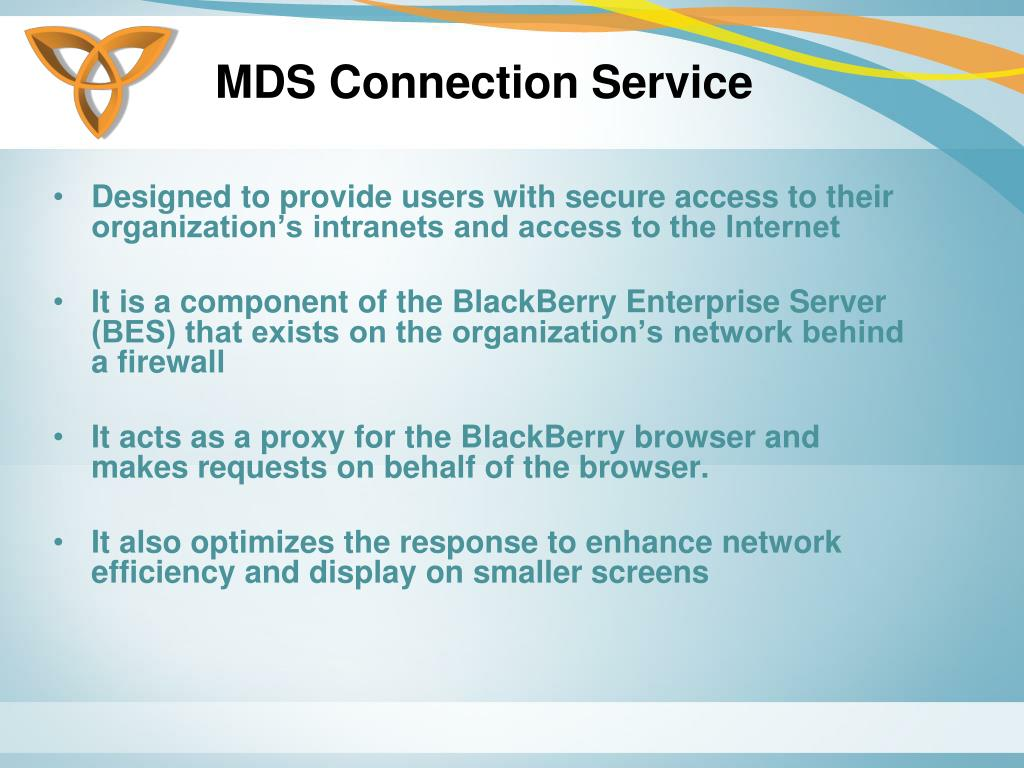 MDS Connection Service