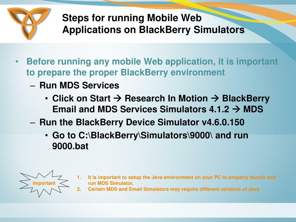 Steps for running Mobile Web