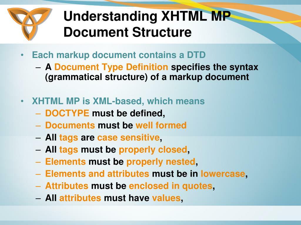 Understanding XHTML MP Document Structure