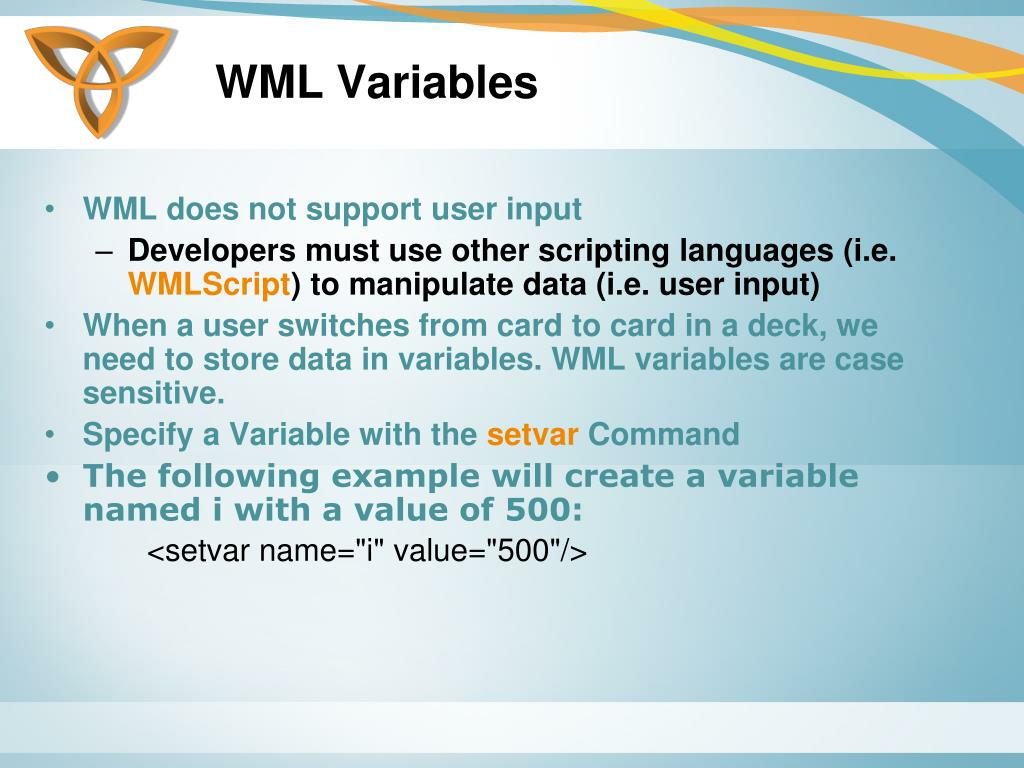 WML Variables