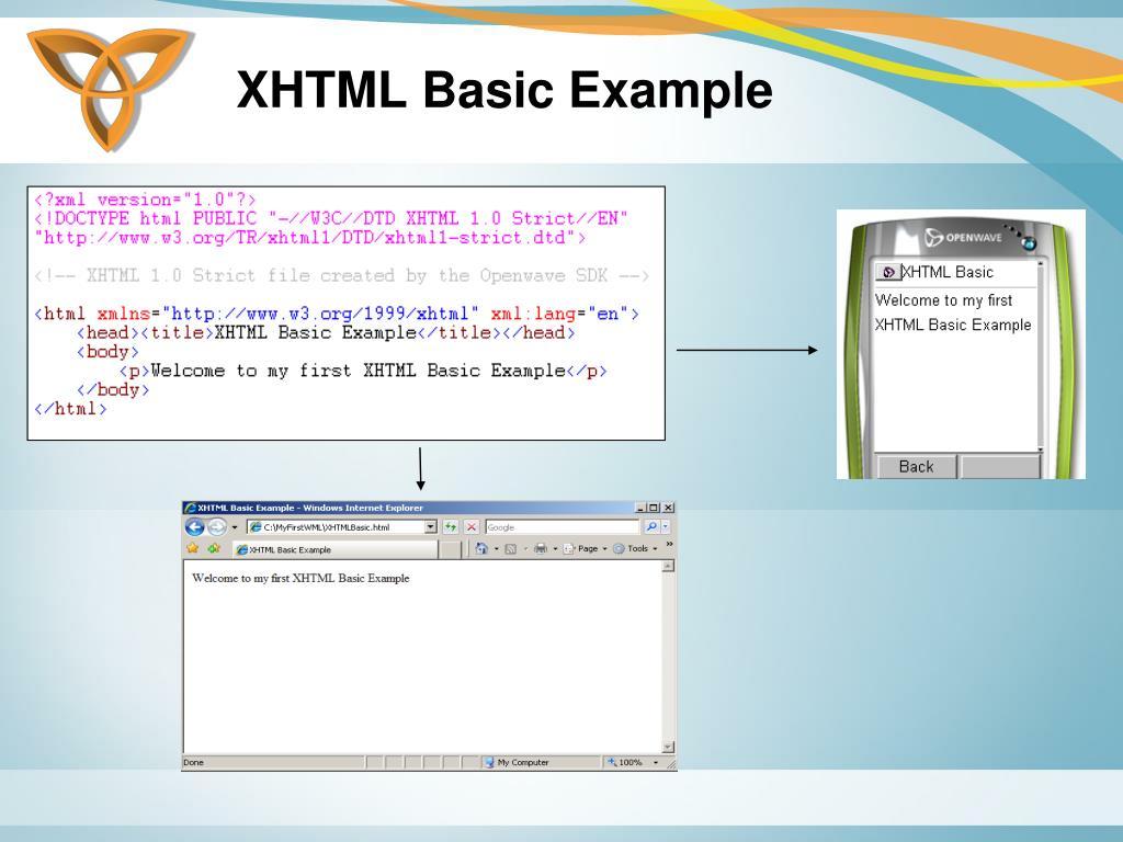 XHTML Basic Example