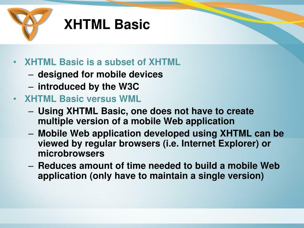 XHTML Basic
