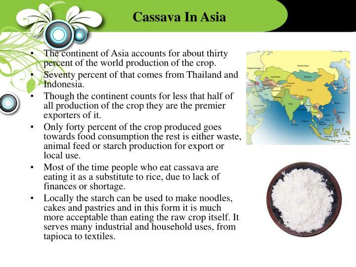 Cassava In Asia