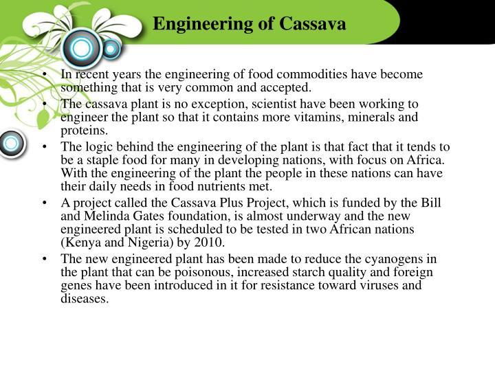 Engineering of Cassava