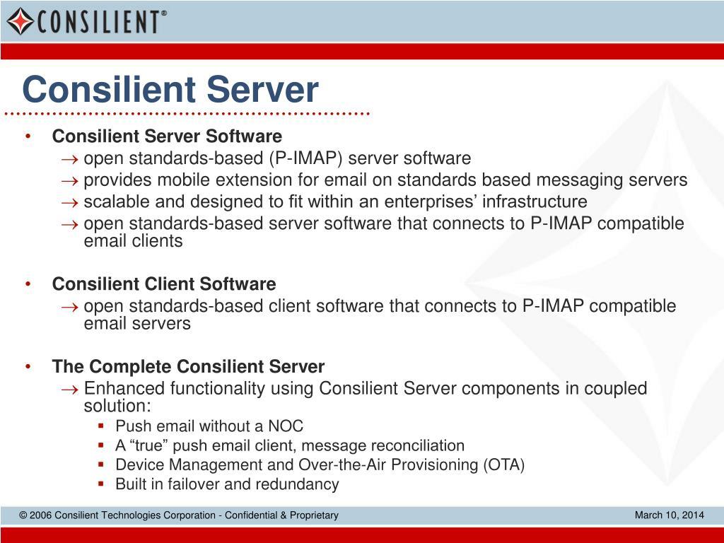 Consilient Server
