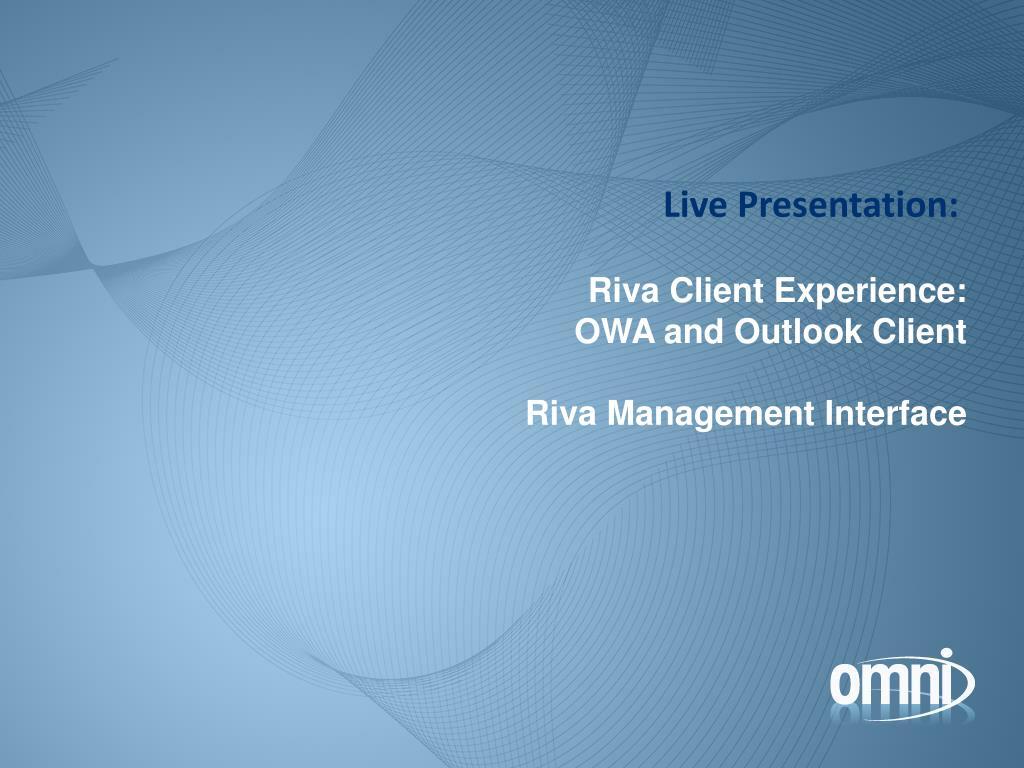 Live Presentation: