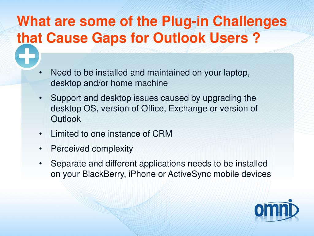 What are some of the Plug-in Challenges that Cause Gaps for Outlook Users ?