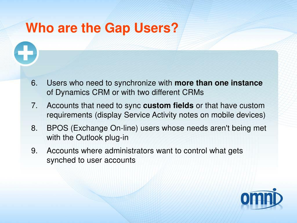 Who are the Gap Users?