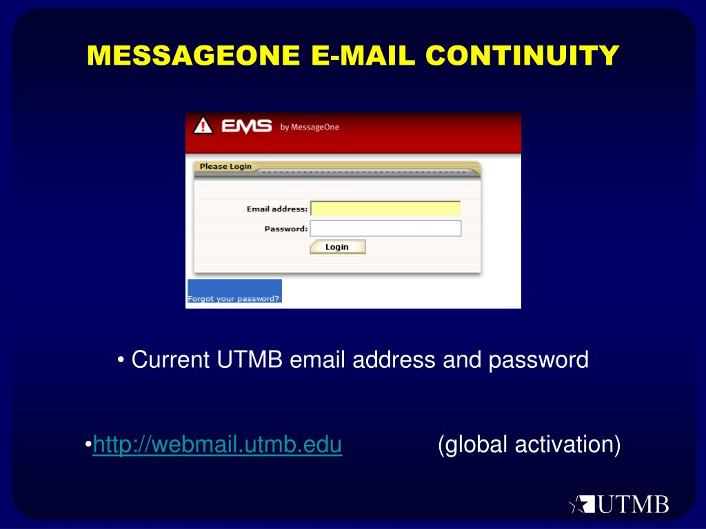 MESSAGEONE E-MAIL CONTINUITY