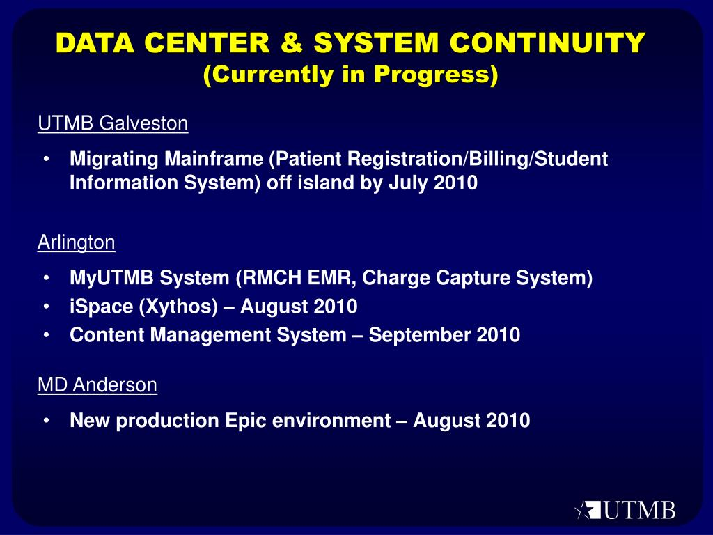 DATA CENTER & SYSTEM CONTINUITY