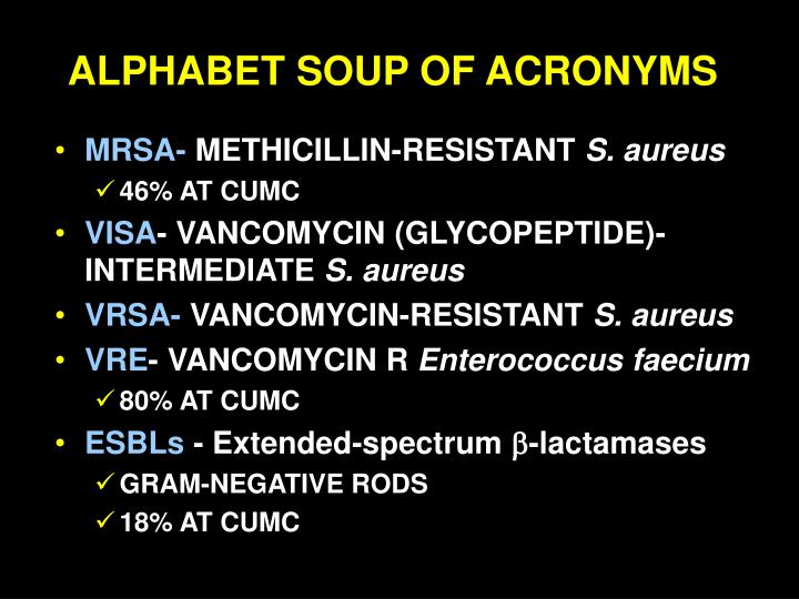 Alphabet soup of acronyms