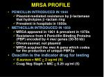 mrsa profile