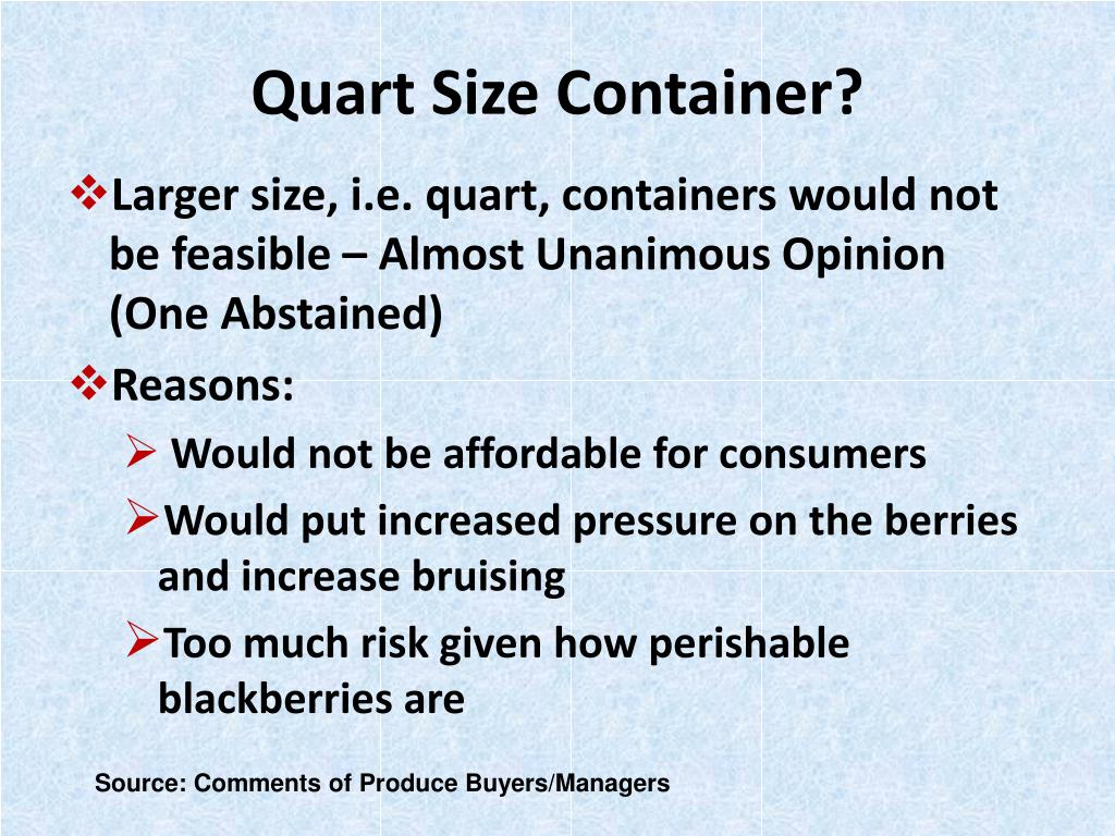 Quart Size Container?