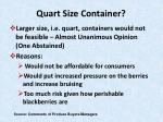 quart size container