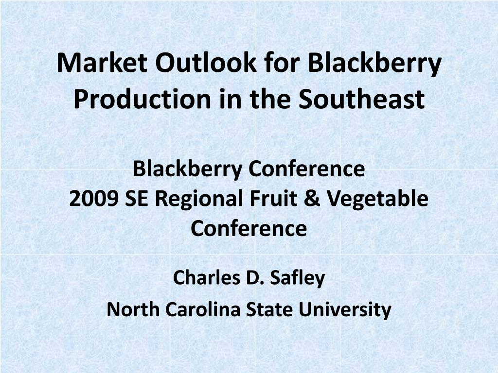 Market Outlook for Blackberry Production in the Southeast