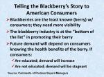 telling the blackberry s story to american consumers