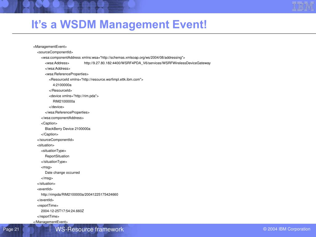 It's a WSDM Management Event!