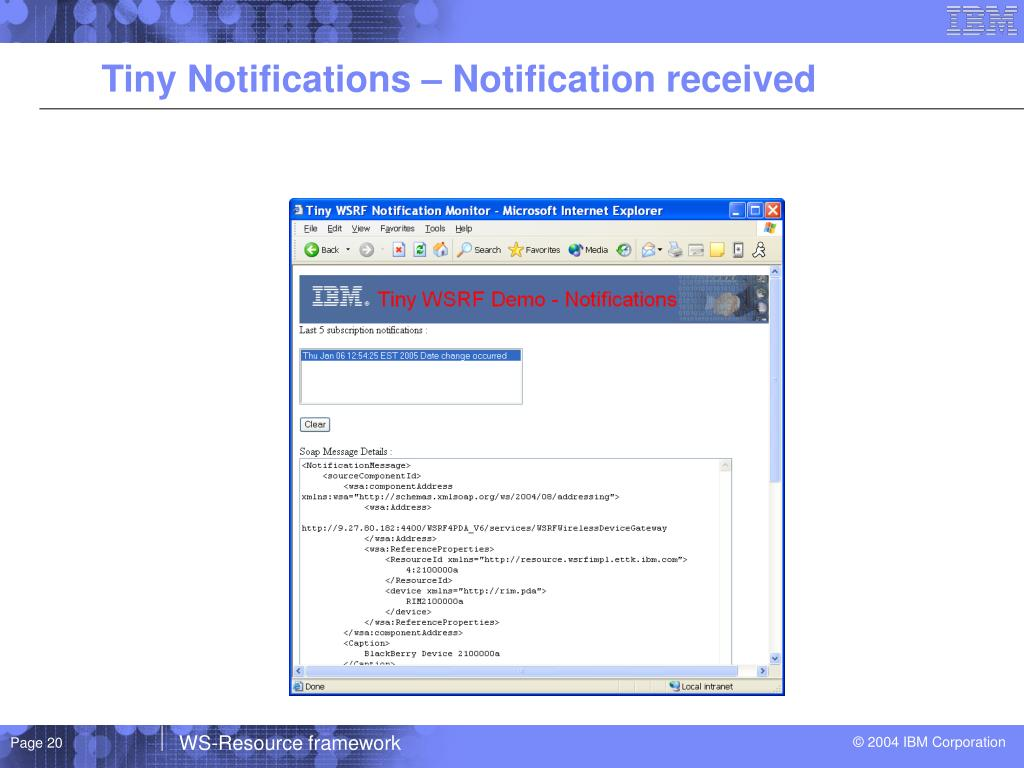 Tiny Notifications – Notification received