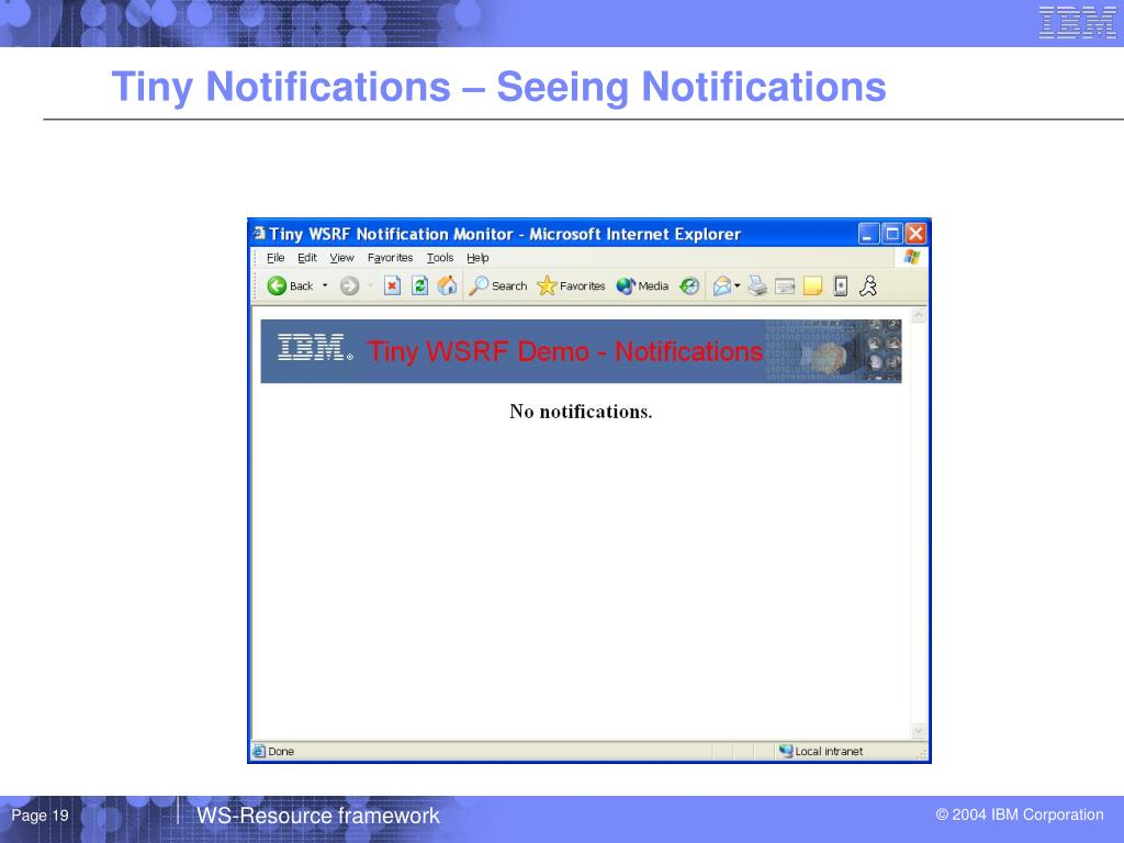 Tiny Notifications – Seeing Notifications