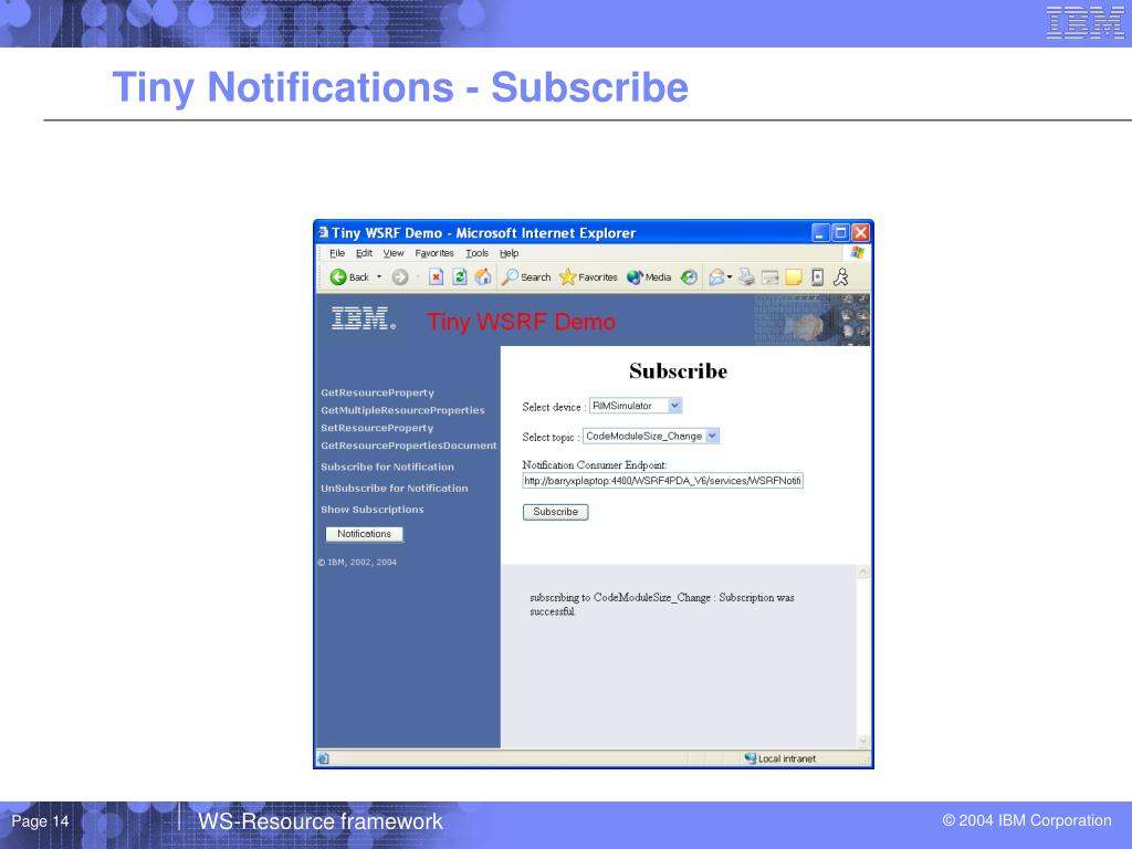 Tiny Notifications - Subscribe