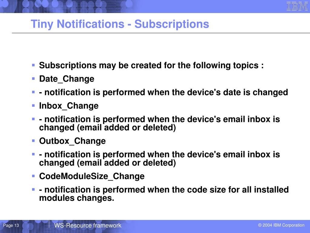 Tiny Notifications - Subscriptions