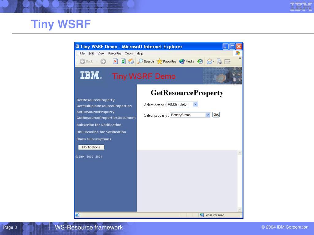 Tiny WSRF