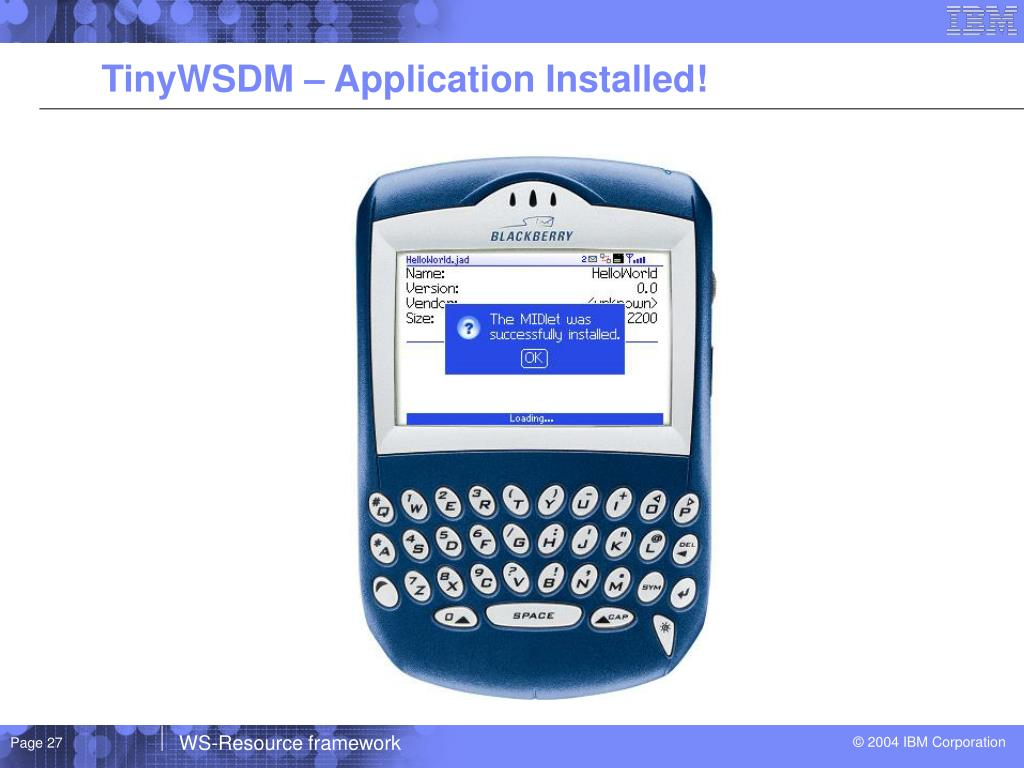 TinyWSDM – Application Installed!