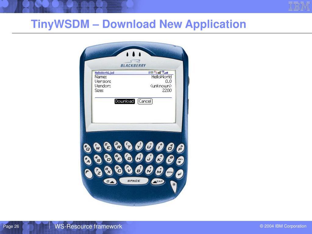 TinyWSDM – Download New Application