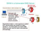 dkim in a vulnerable dns server