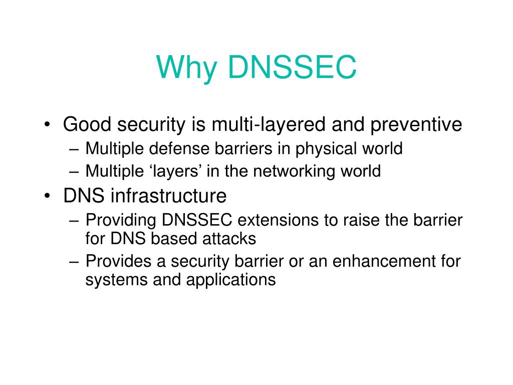 Why DNSSEC