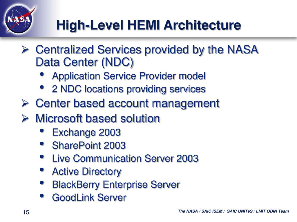 High-Level HEMI Architecture