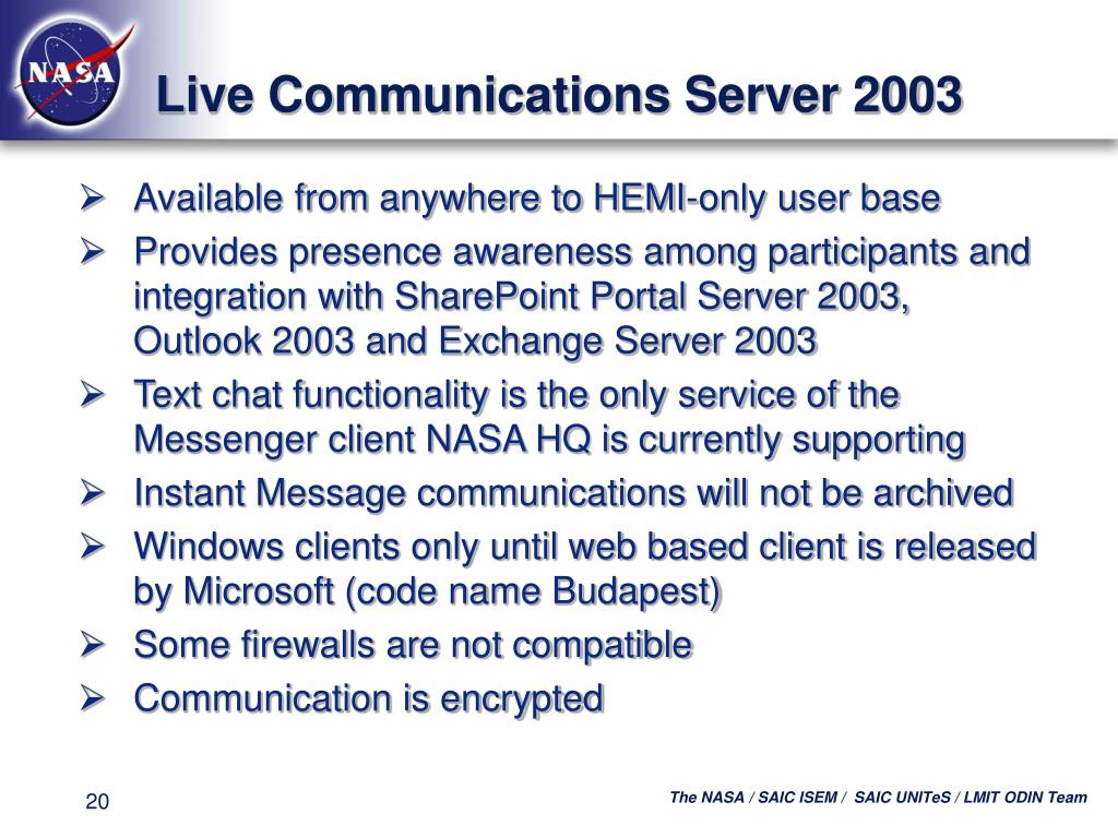Live Communications Server 2003
