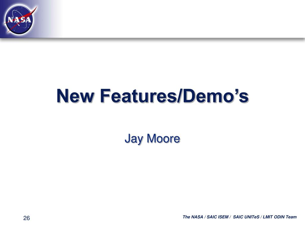 New Features/Demo's