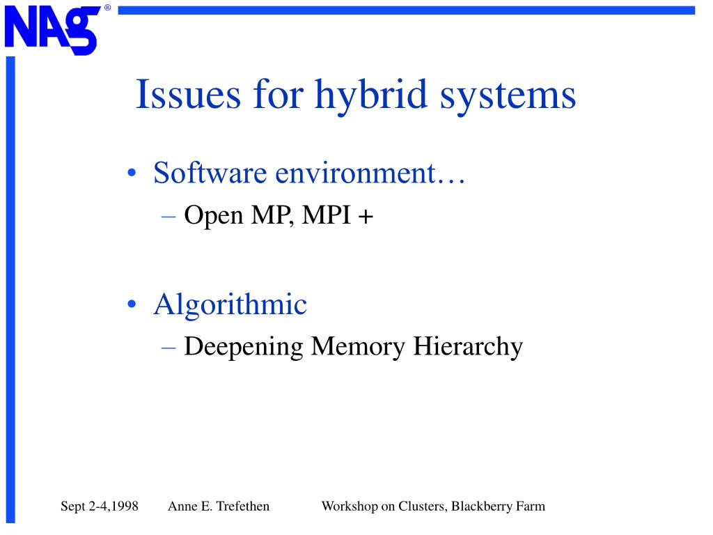 Issues for hybrid systems