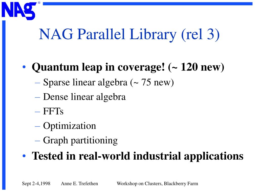 NAG Parallel Library