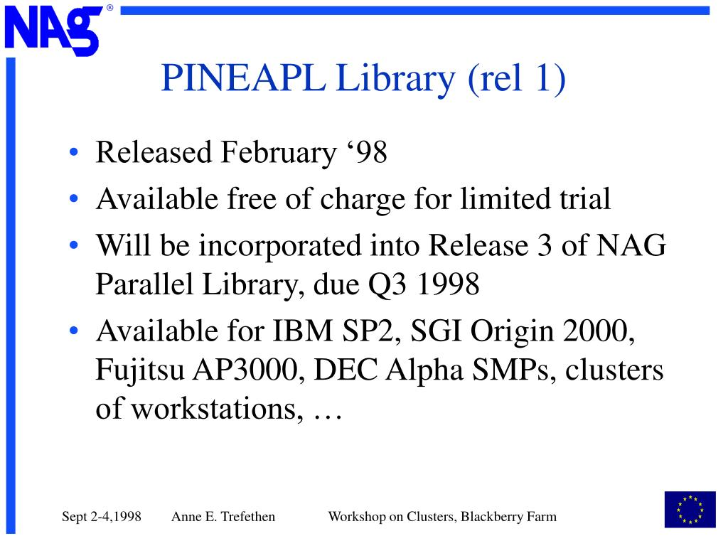 PINEAPL Library (rel 1)
