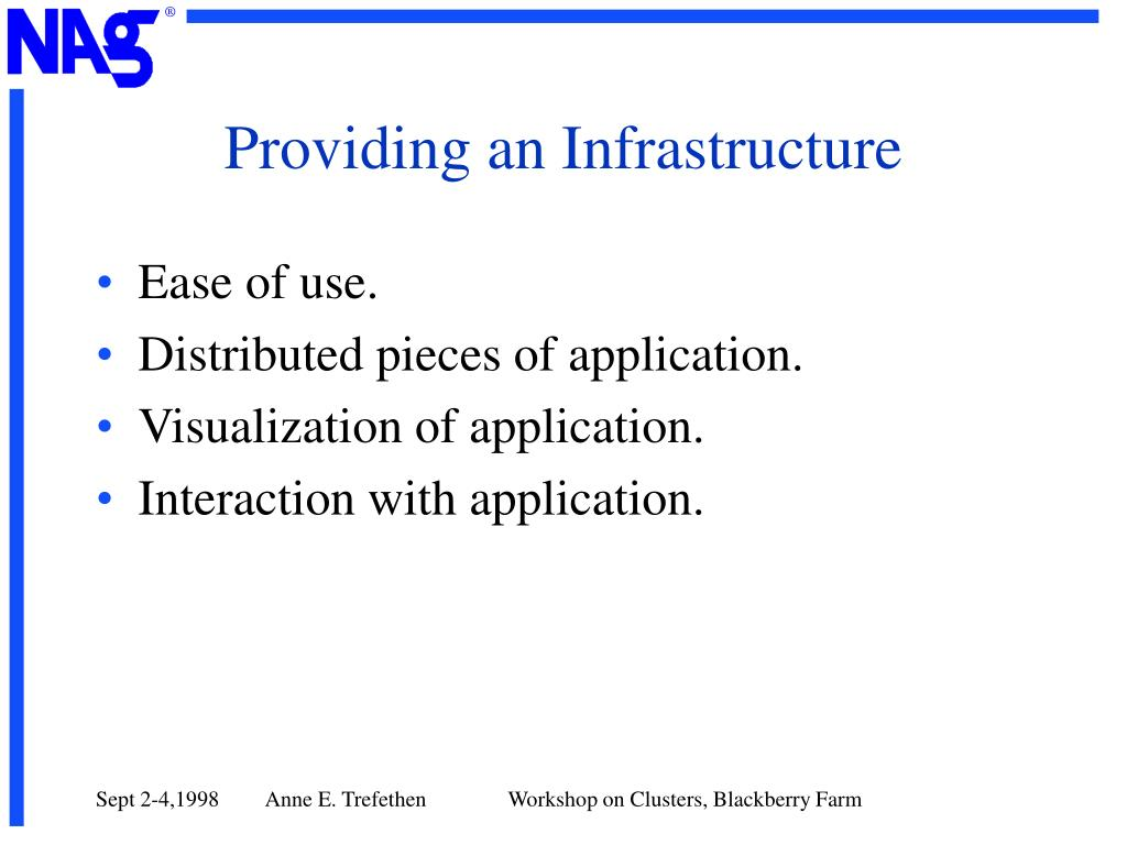 Providing an Infrastructure