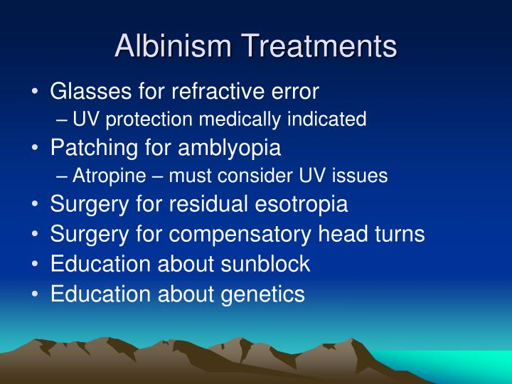 Albinism Treatments