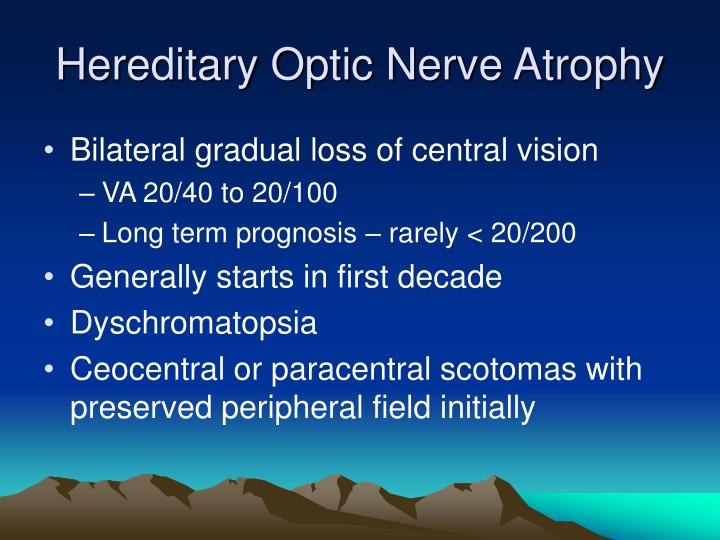 Hereditary Optic Nerve Atrophy