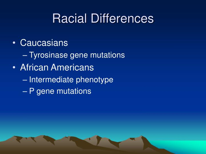 Racial Differences