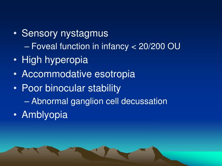 Sensory nystagmus